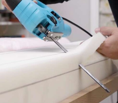 how to cut upholstery foam
